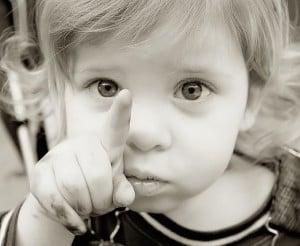 toddler-saying-no-pointing-finger-300x246